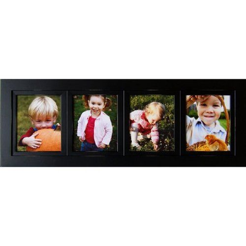 Collage Frames 4 Opening Black 8x10 Multi Photo Picture Frames Solid ...