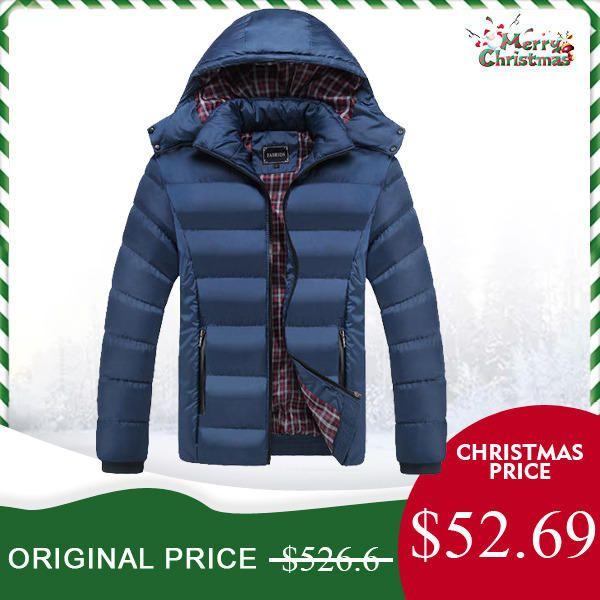 feca4cd1d Only US$52.69, shop mens thick solid color winter hooded slim warm jacket  at Banggood.com. Buy fashion coat online. - Banggood Mobile
