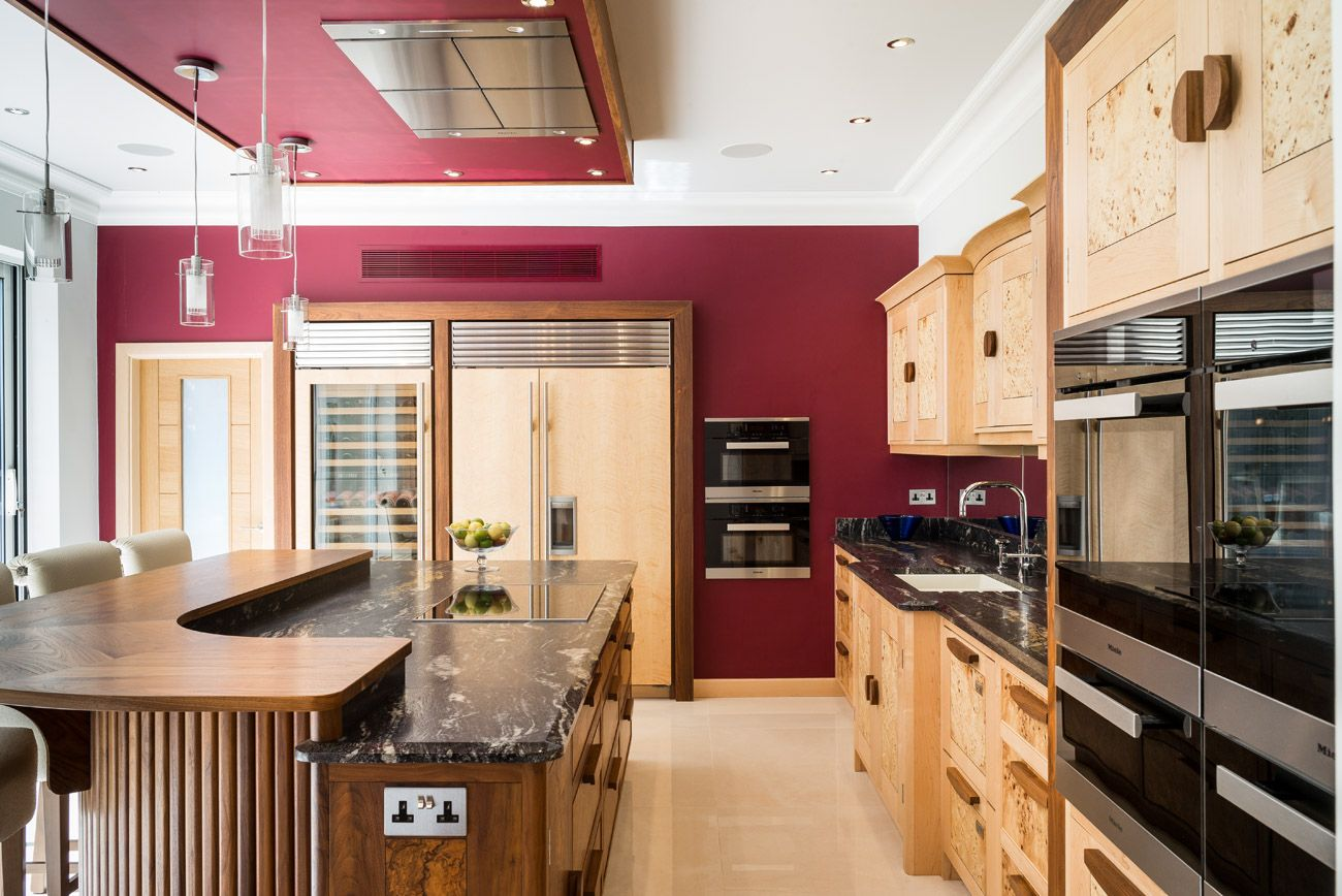 Walnut & Maple Kitchen Sheffieldan Opulent Display Of Rich Extraordinary Kitchen Design Sheffield 2018