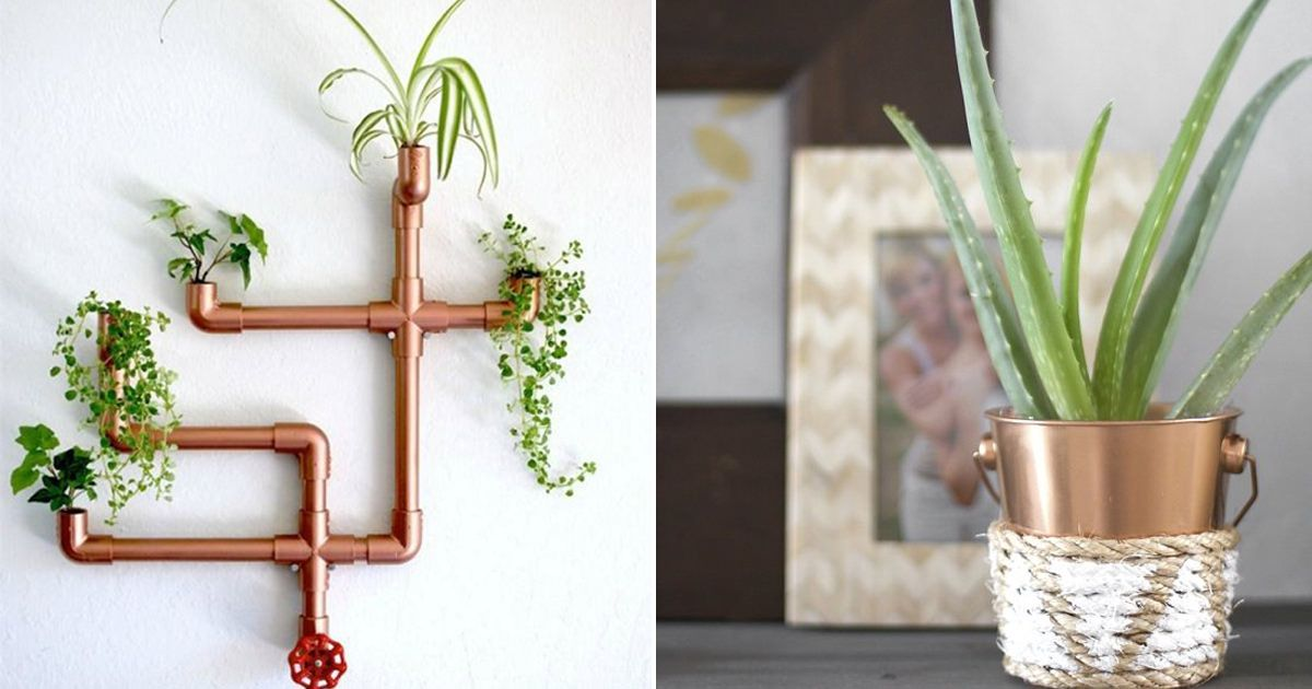 Cheap Diy Copper Planters For Indoor Plants That Look 400 x 300