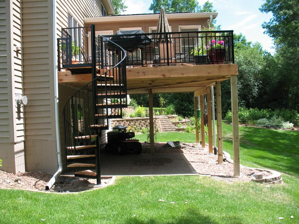 Ornamental Spiral Staircase Outdoor | Porch project | Pinterest ...