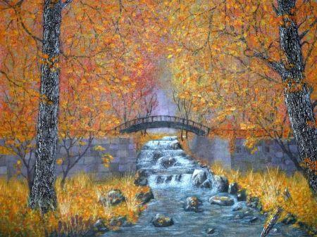 秋の滝 カスケード 自然 高解像度で壁紙