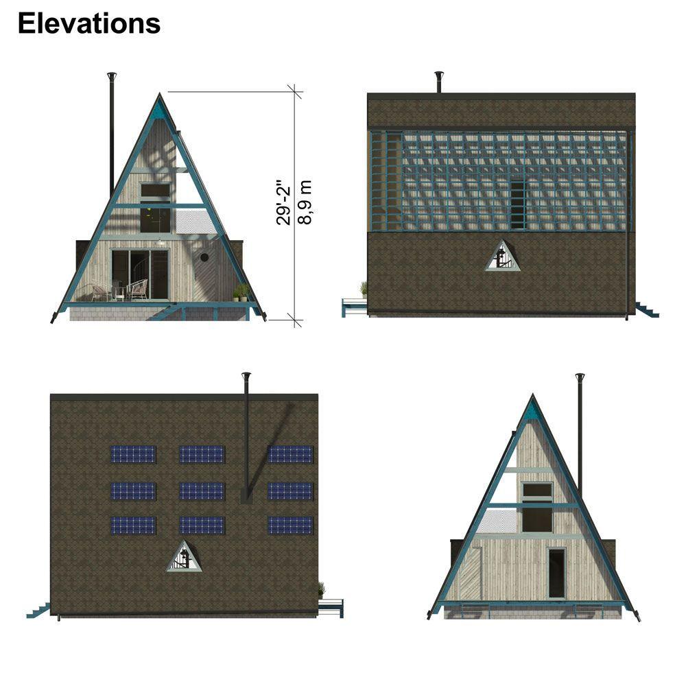 Modern A Frame House Floor Plans A Frame House A Frame House Plans Diy House Plans