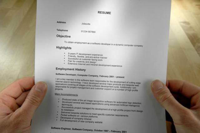 Learn How To Format A Chronological Resume And See Some Examples