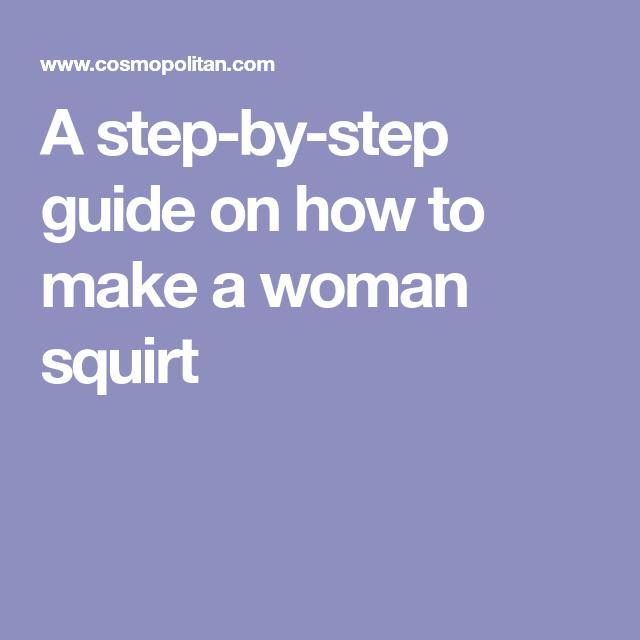 Make a women squirt
