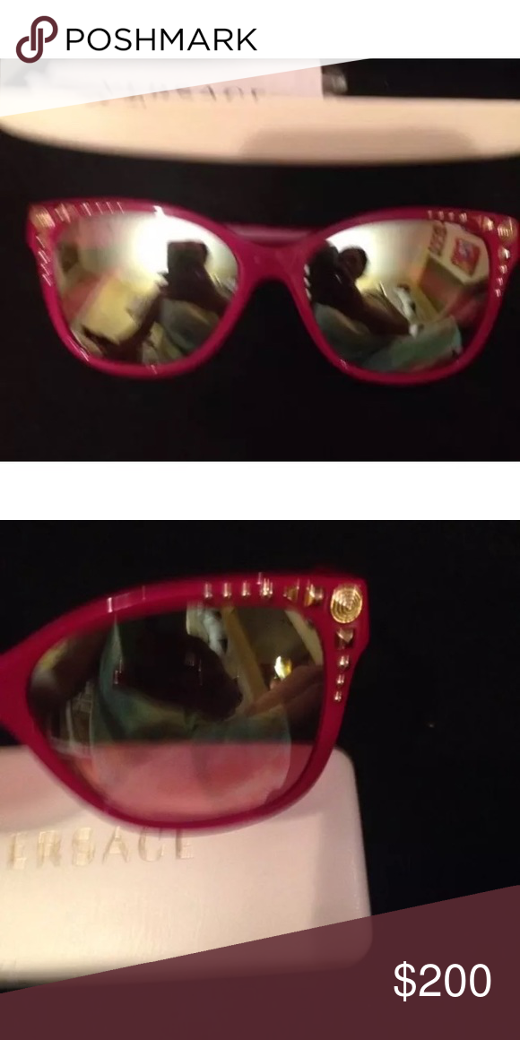 ca49504408c4 Lady Gaga Versace jeweled sunglasses NEW! Pink with jeweled trim. Brand new  Versace Accessories Sunglasses