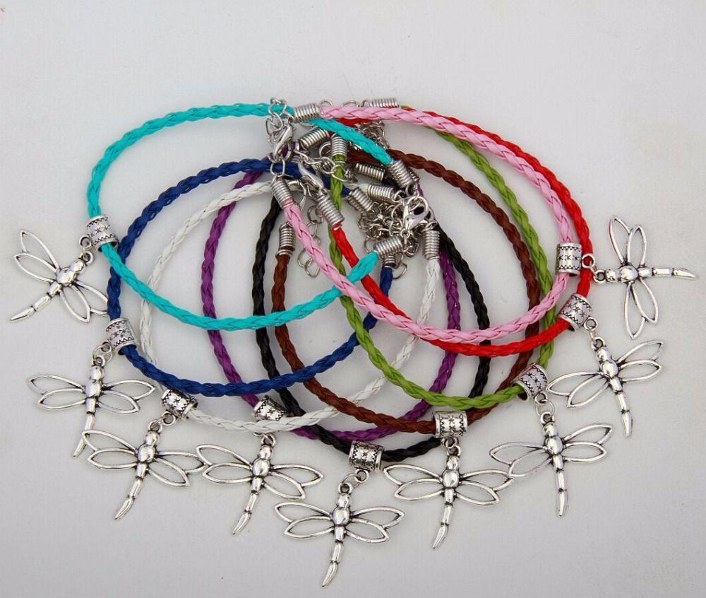 Pcs fashion jewelry vintage silver dragonfly animals charm