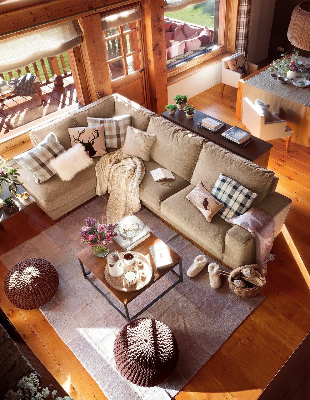 De madera por dentro y por fuera | Cabaña de madera, Madera y Casas