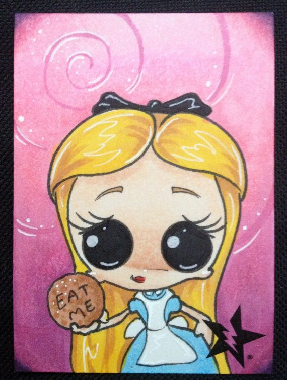 Sugar Fueled Alice in Wonderland Eat Me Cookie by Sugarfueledart, $4.00