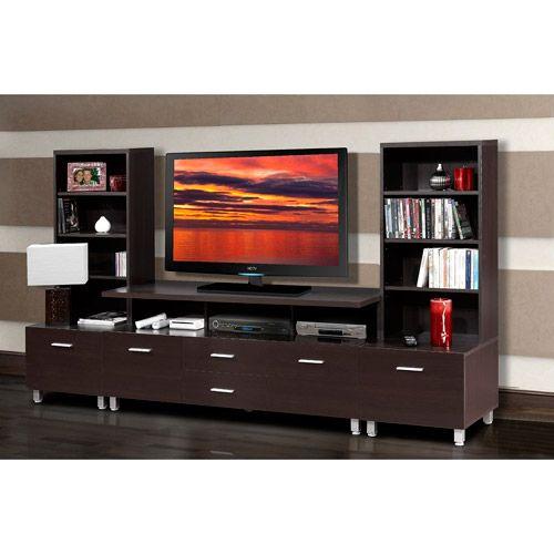 Syntax Espresso Entertainment Center Value Bundle Furniture Walmart 630