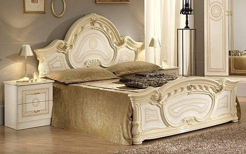 This Exclusive Ben Company Sara Beige Finish Italian Bed With