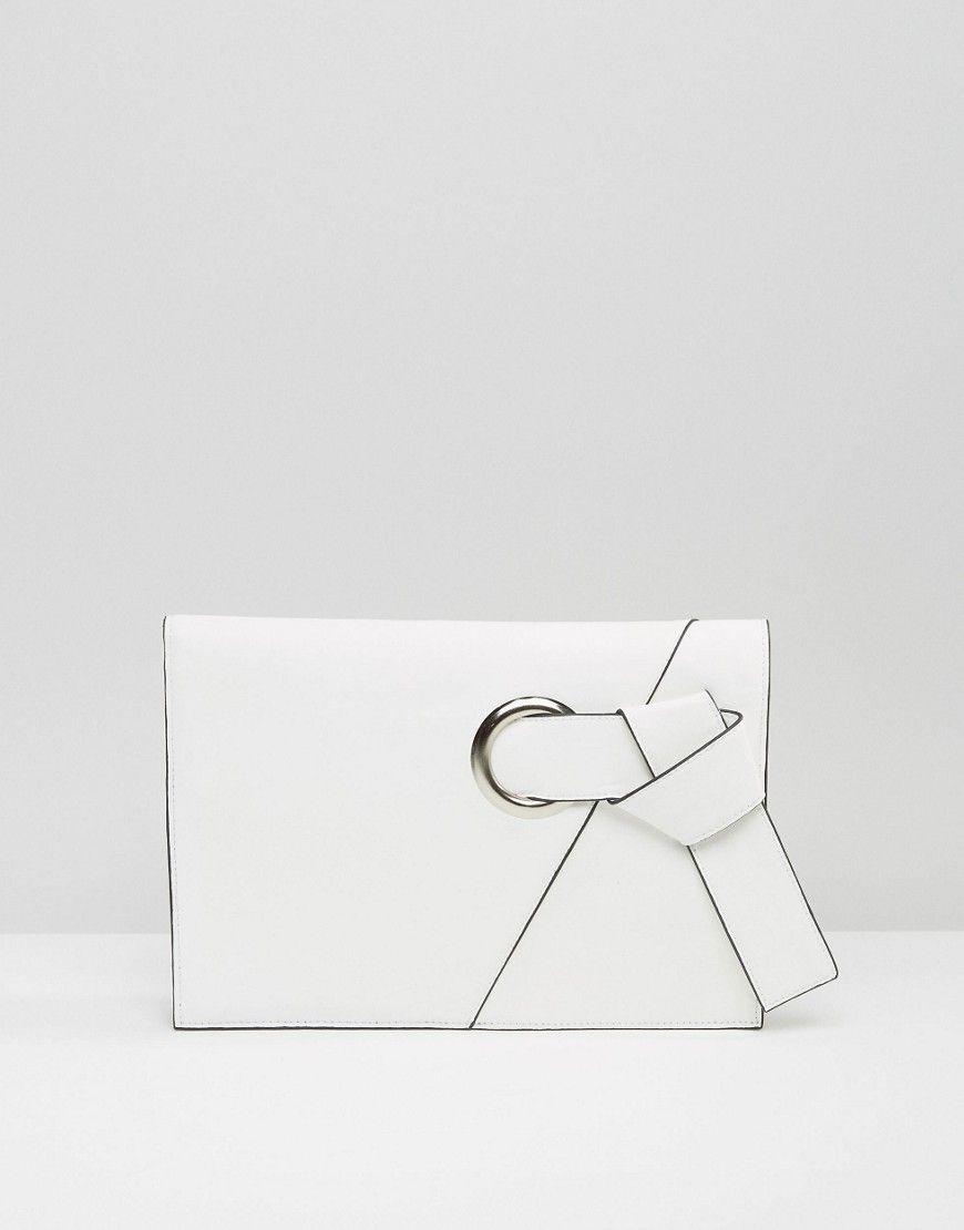 ASOS Eyelet Knot Clutch Bag at asos.com