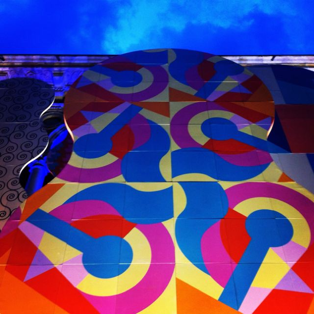 Installation by Alessandro Mendini at the University of Milan