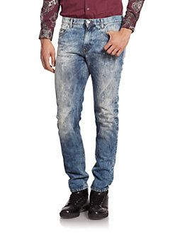 Versace Jeans - Relaxed Fit Acid-Washed Jeans
