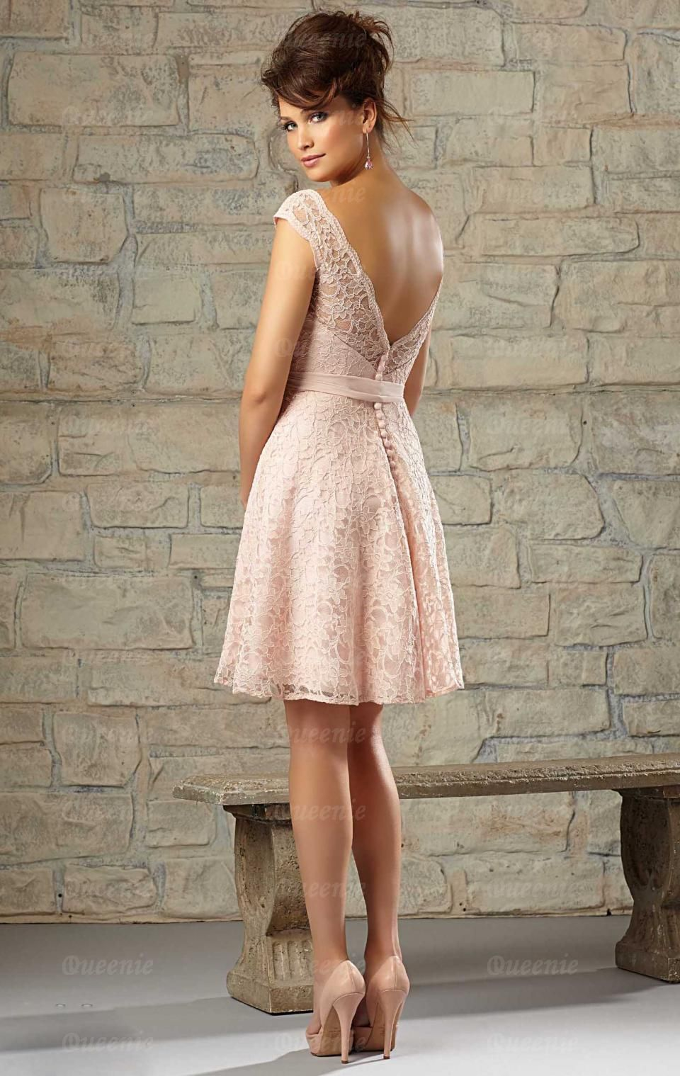 Stylish Short Pink Bridesmaid Dress BNNCC0035-Bridesmaid UK | Zama ...