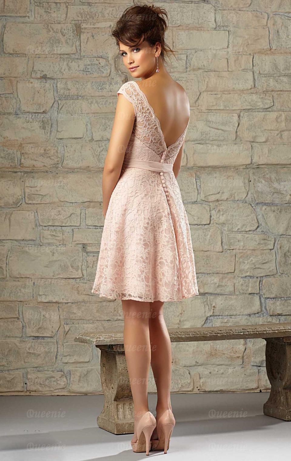 Stylish short pink bridesmaid dress bnnccbridesmaid uk