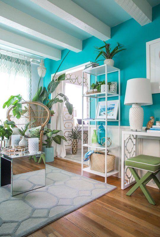 House Tour Colorful Palm Beach Regency Style Home Coastal Decor Enchanting Palm Beach Interior Design Decoration