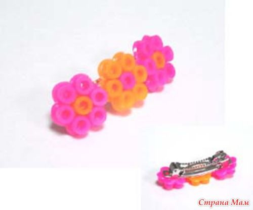 Flower barrette perler beads