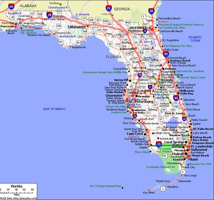 show florida map usa