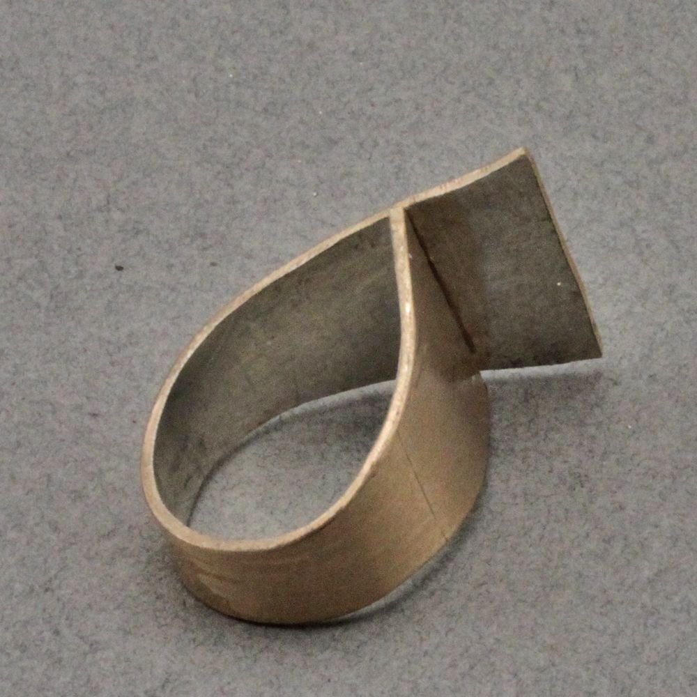 Rings are fun to create. Flat sheet metal is a great material to ...