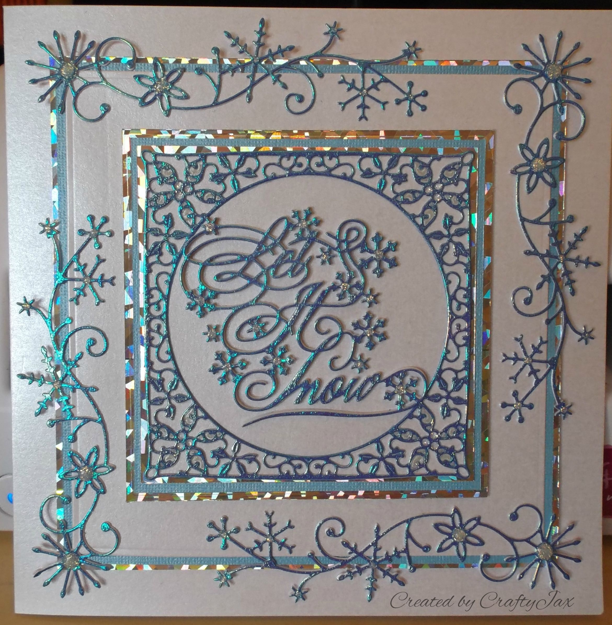 Tattered Lace and Memory Box Christmas Card Christmas