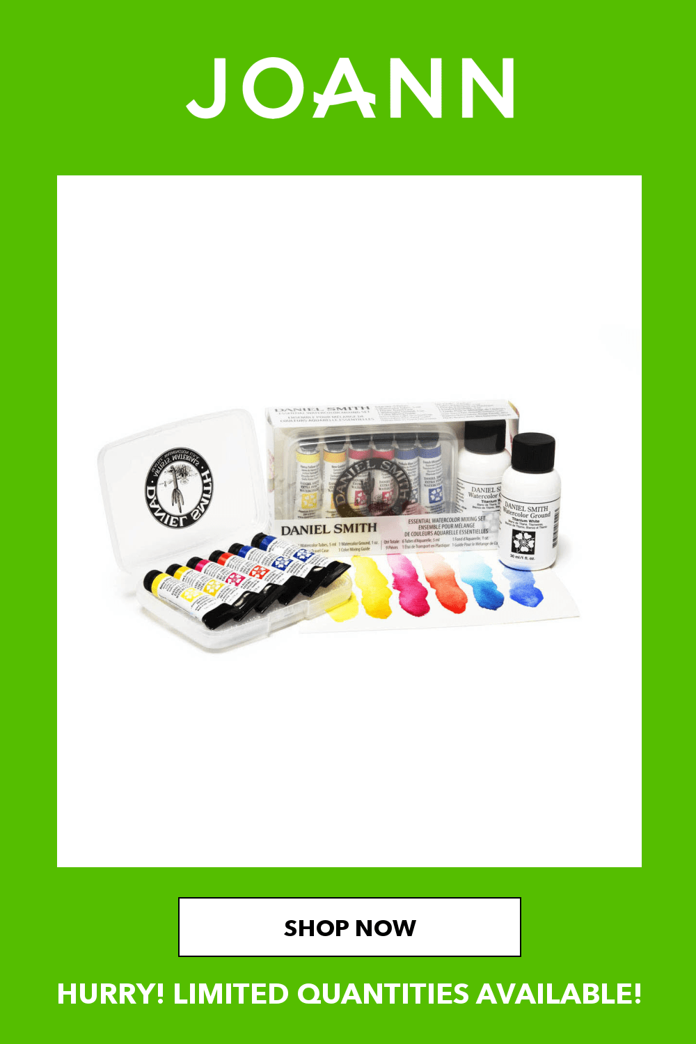 This Extra - Fine Watercolor set features colors that have outstanding color strength, extremely vibrant colors and excellent brushing properties. These colors were chosen because of their ability to mix together without creating mud. Colors include hansa yellow light, new gamboge, quinacridone rose, pyrrole scarlet, pthalo blue green shade and French ultramarine.5.3 x 1.5 x 3.05Contains six 5ml tubes of colorPigments procured from all over the worldManufactured in Seattle, Washington - painting