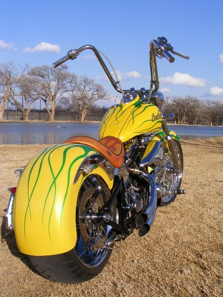 01 Indian Scout Custom Rear Front Fender Hand Tooled Seat 18 Apes Paint Twisted Spokes W Solid Chrome Wheel In