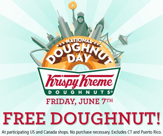 Free Krispy Kreme Doughnut Today Only Krispy Kreme Krispy Kreme Doughnut National Donut Day