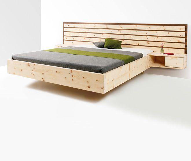 Holzbett modern  handgefertigte Massivholz Möbel, Zirbenholz, Bett, Schlafzimmer ...