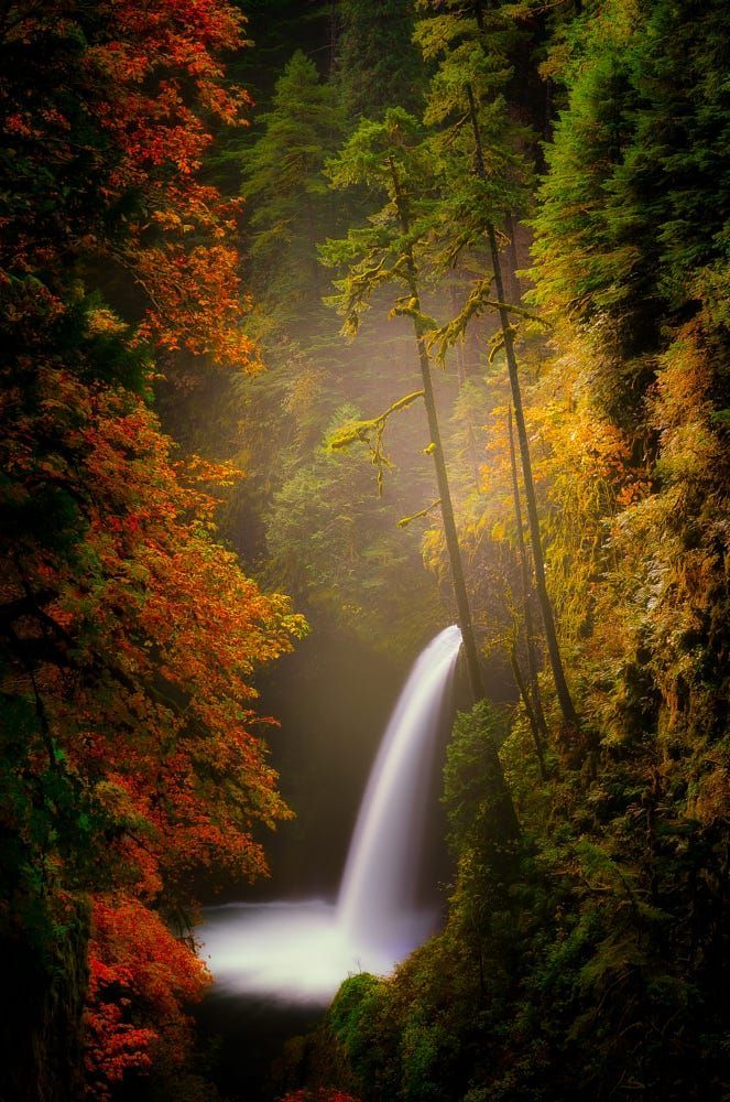 Metlako Falls Columbia River Gorge Oregon by