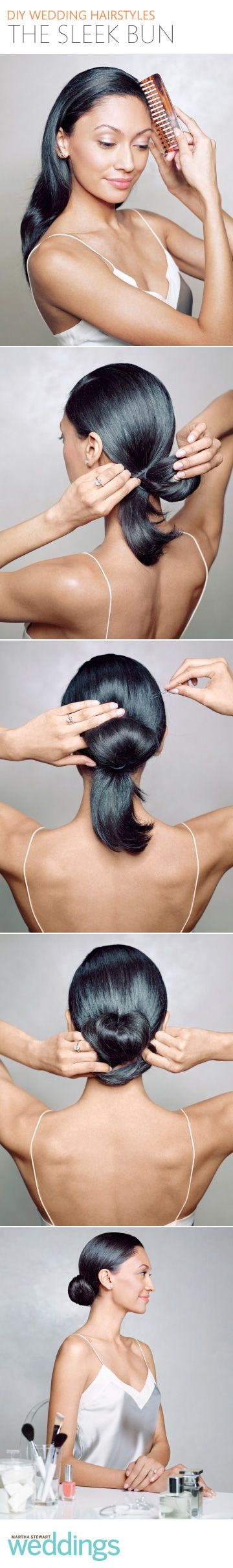 Follow these easy steps to create this sleek hairstyle yourself