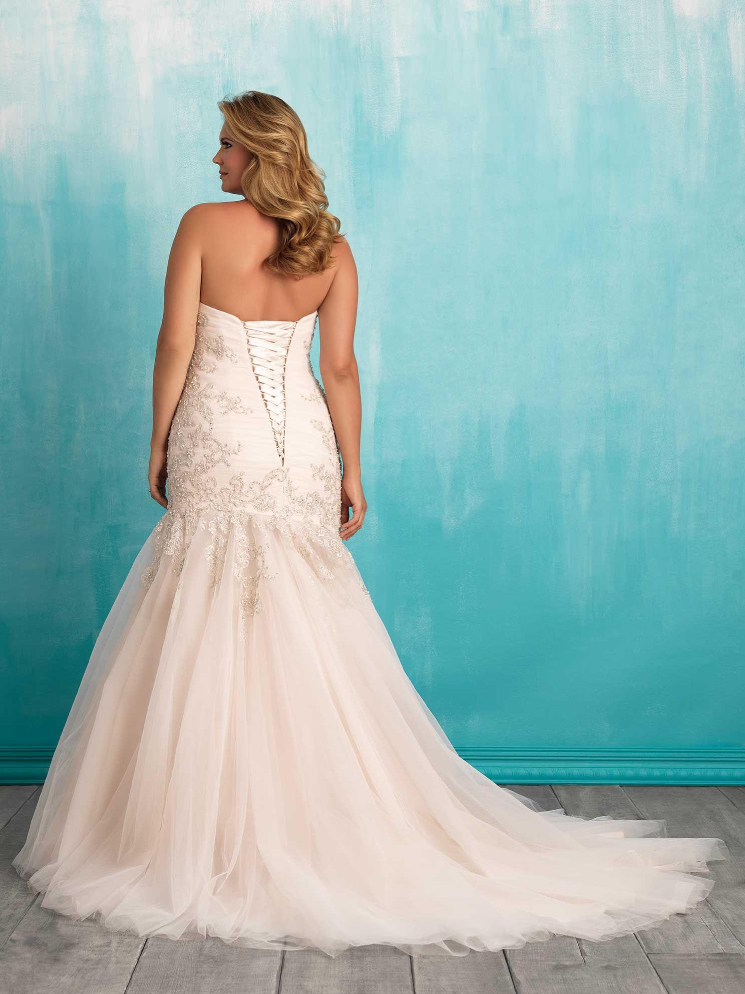 Style W372 Allure Bridal Wedding Dresses Blush Wedding Dresses [ 1985 x 1488 Pixel ]