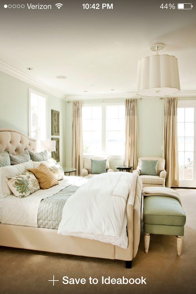 Bedroom Paint Color is Sea Saltu0027 by
