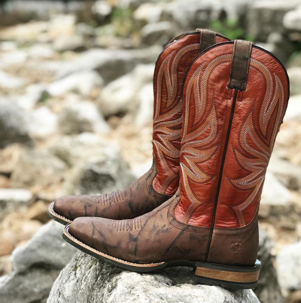 aeaeff27ccf Brown Ariat Mens Range Boss Western Cowboy Boots | Cowboy Boots for ...