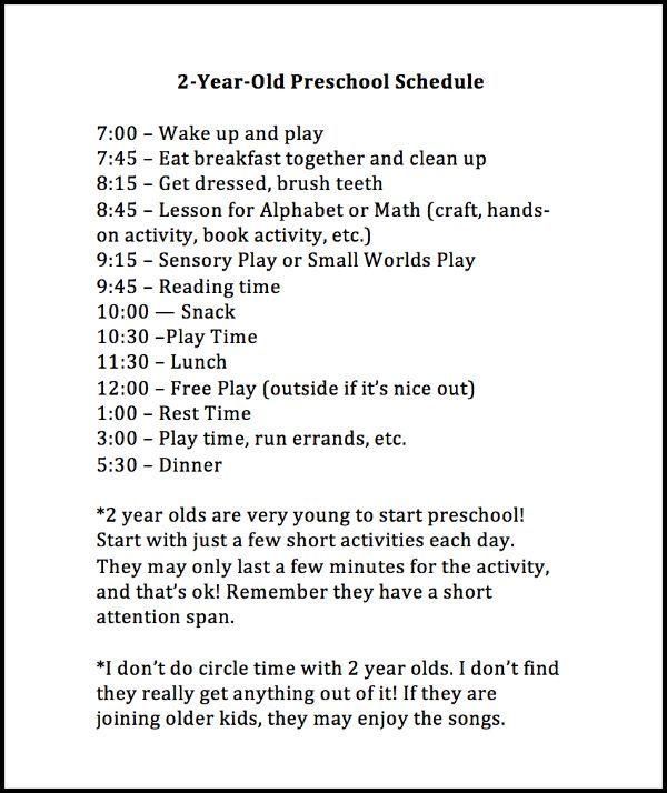 Weekly Preschool Planner Free Printable Lesson Plans 2