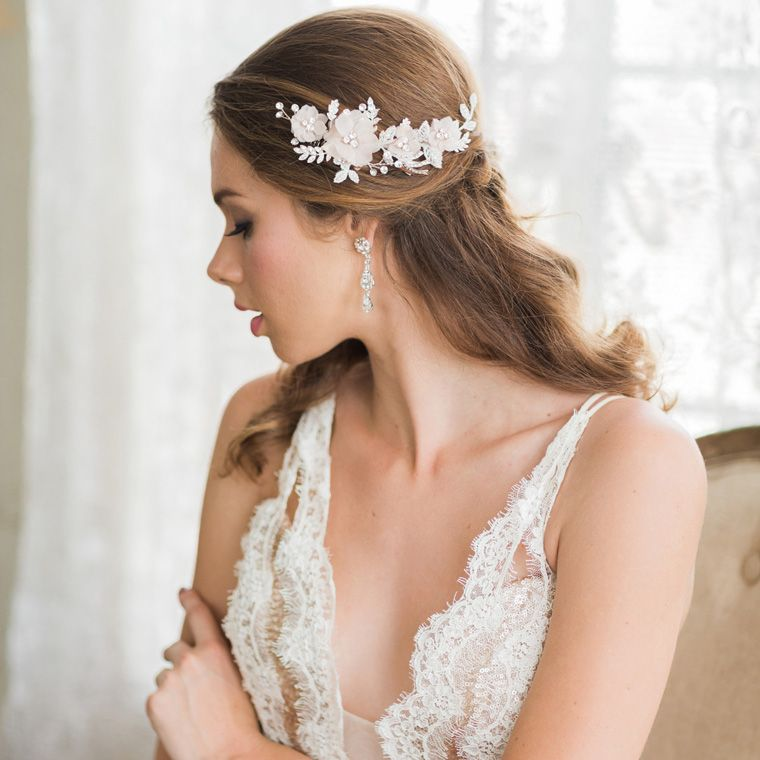 39 Stunning Wedding Veil Headpiece Ideas For Your 2016: Bel Aire Bridal Available At Chantilly Lace Bridals In