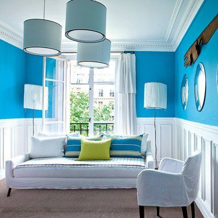 1000 images about murs on pinterest pastel industrial and bathroom paneling - Decoration Salon Bleu