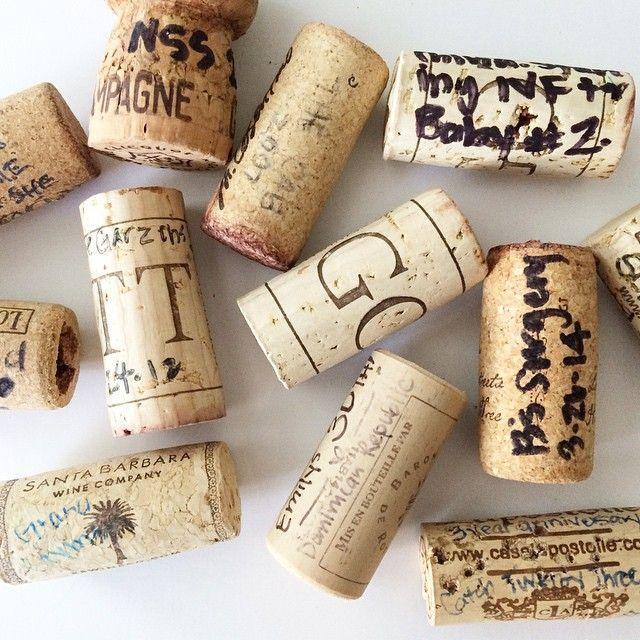 These are a few of my favorite things: wine corks with scribbles. We try and save ones from special occasions and write notes on them. From this handful: National Stationery Show 2014, Just signed the papers for IVF for Baby #2 2014 (), Invested in our first Simplified Planners and we are terrified 2011, Dominican Republic 2013, Sonoma 2012 and of course… 6 week old twins 2015 by emilyley