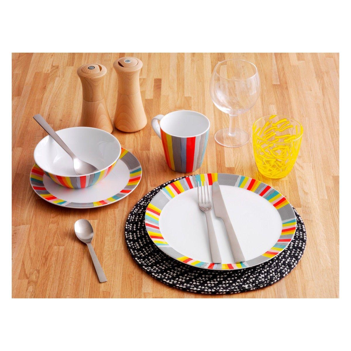 TUPA Set of 4 patterned porcelain dinner plates D27cm  sc 1 st  Pinterest & TUPA Set of 4 patterned porcelain dinner plates D27cm | Christmas ...