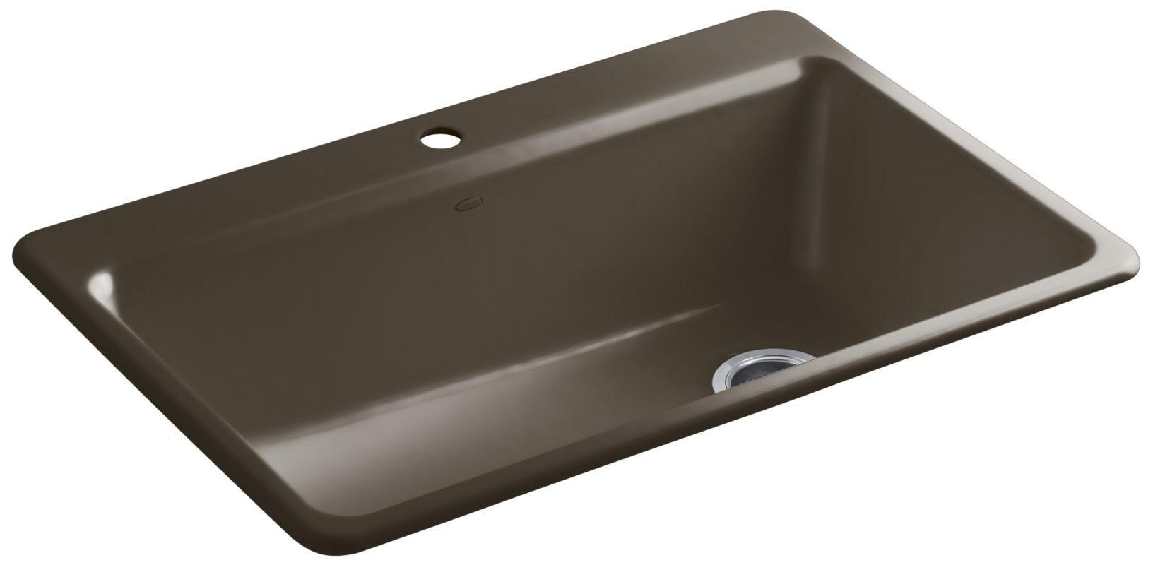 kohler k 5871 1a2 products cast iron kitchen sinks single bowl rh pinterest com
