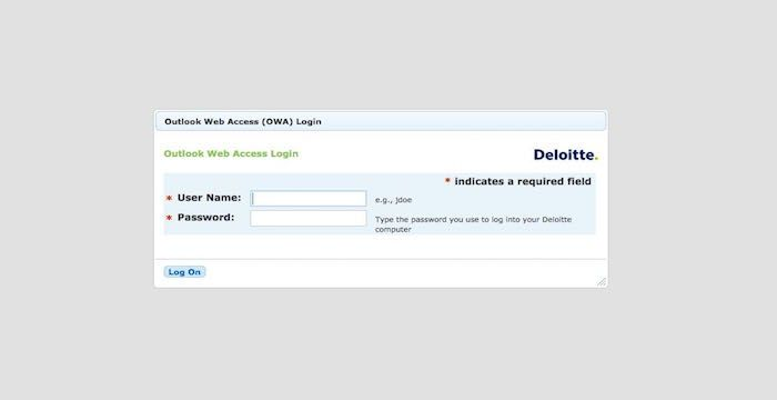 Deloitte Email Login Page Url Login Page Email Service Login Email