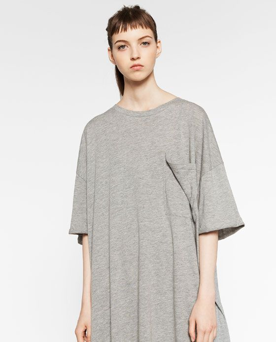 great fit distinctive design best sale ZARA - WOMAN - OVERSIZED T-SHIRT DRESS | Fly shit ...