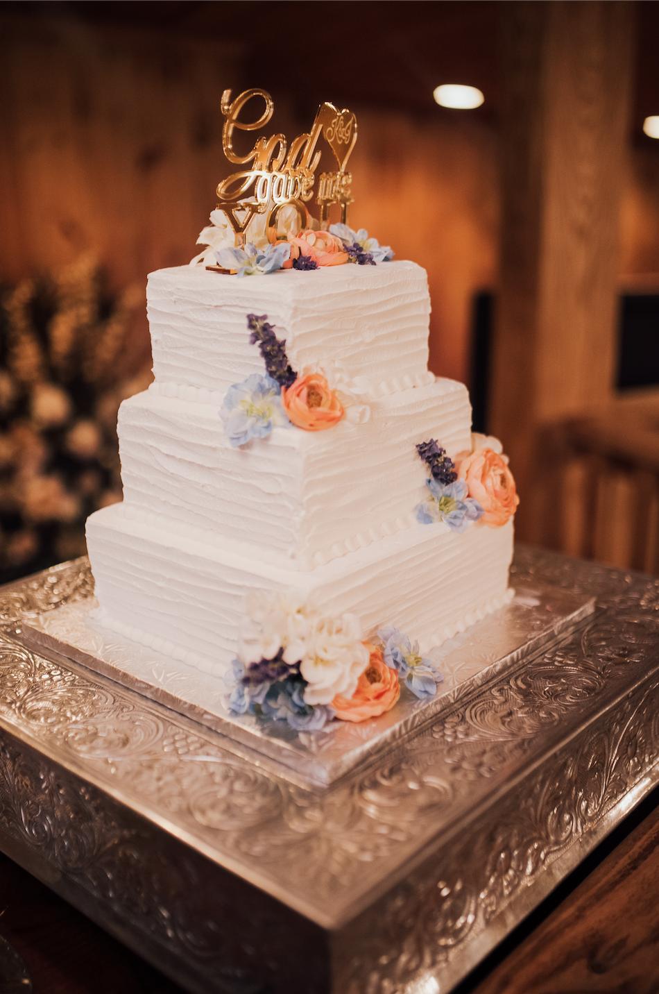 Buttercream wedding cake wedding photographer spring wedding