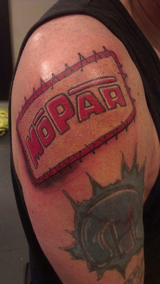 Mick S Mopar Tattoo Mopar Tattoos Pinterest Mopar