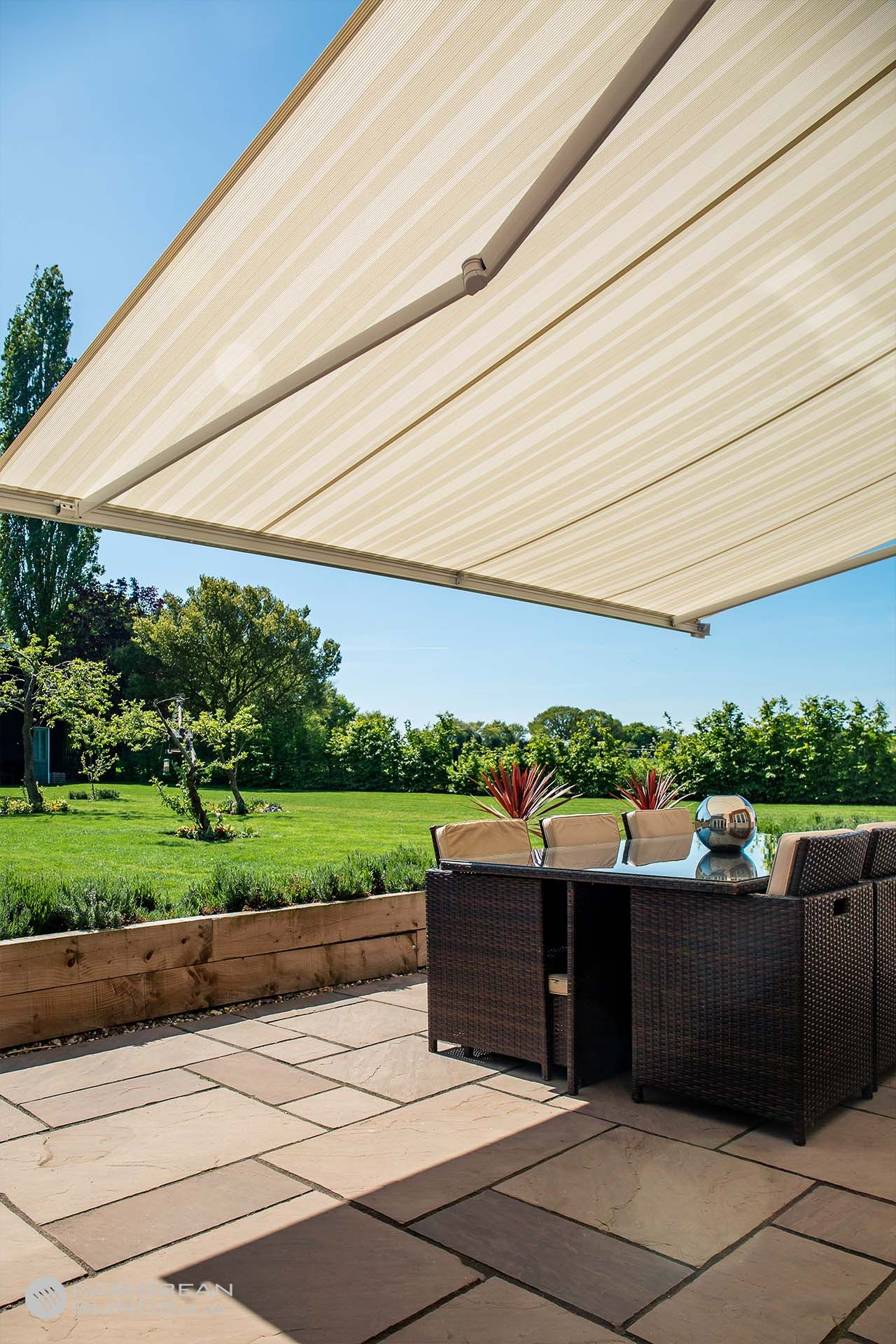 Cuba Heavy Duty Folding Arm Awning Caribbean Blinds In 2020 Patio Awning Patio Outdoor Living Areas