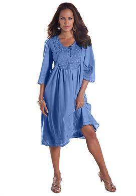 37c74382e8d Angel Empire Waist Crochet Dress