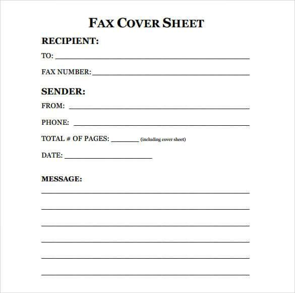 13 Free Fax Cover Sheet Templates