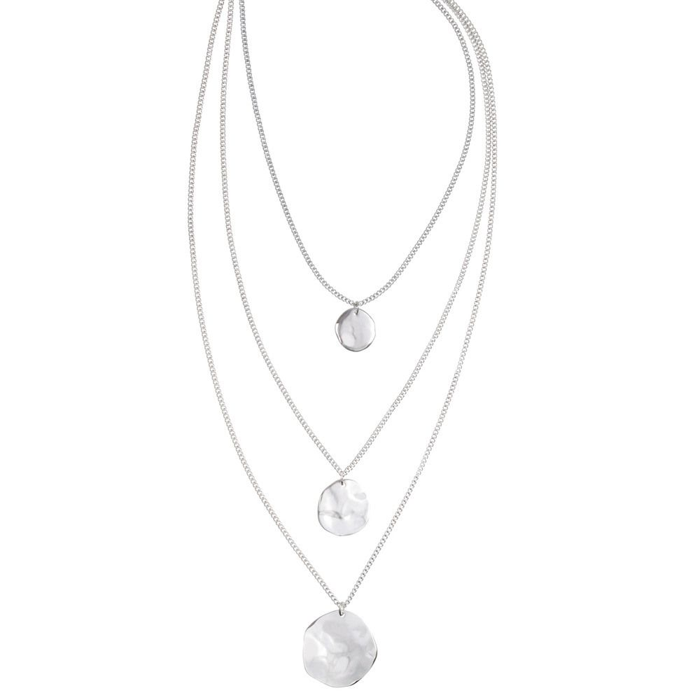I use this one and everyone love it... just stunning..chloe-and-isabel-three-row-paillette-graduated-pendant. https://www.chloeandisabel.com/boutique/celiasilva#46072