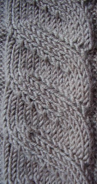 Free Knitting Pattern Scarves Illusions Cable Scarf Knitting