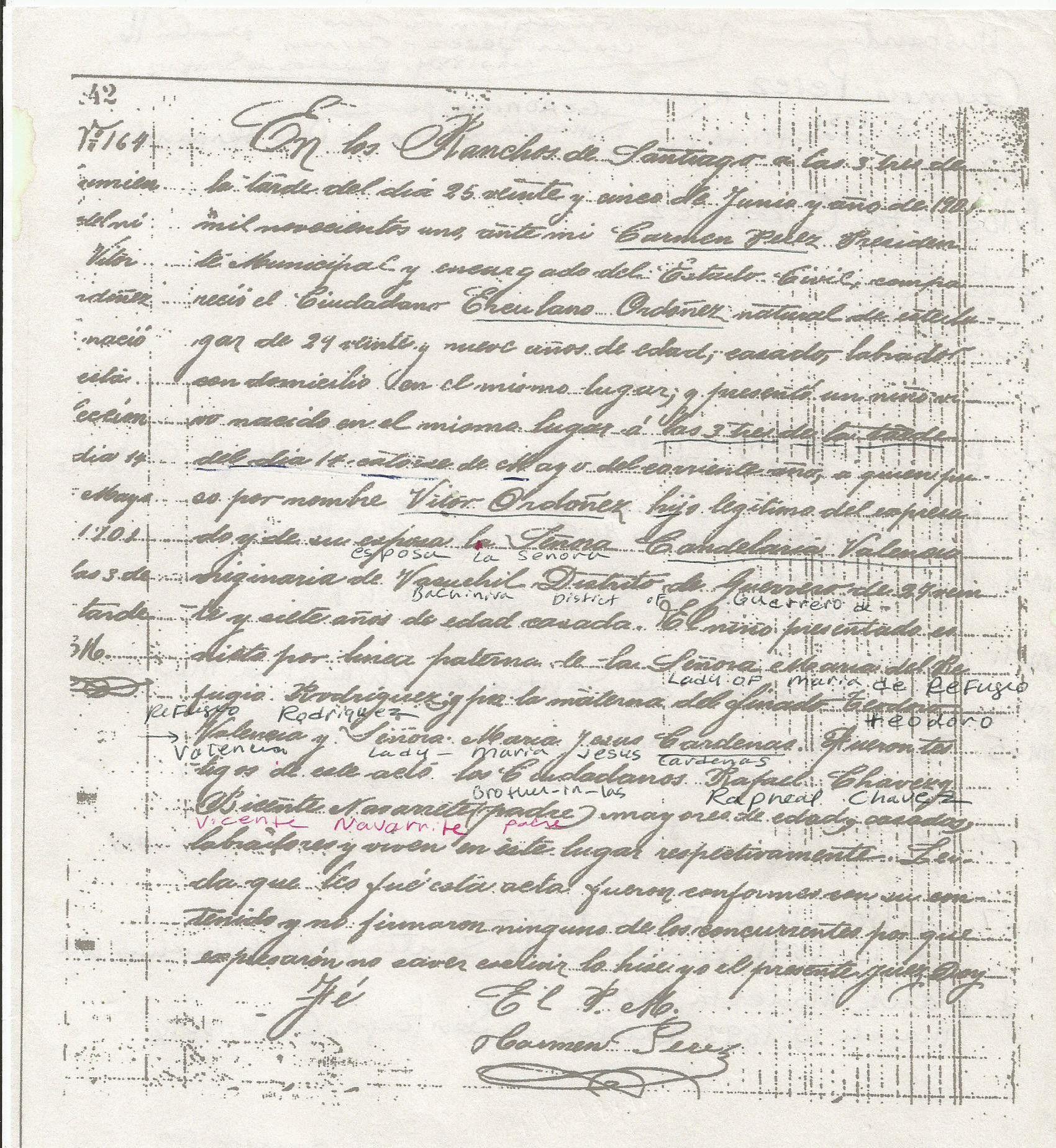 Certificado de nacimiento de mi abuelo Víctor Ordóñ… | Ordonez ...